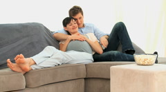 Lovely future parents Stock Footage