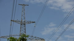 Transmission of electricity Stock Footage