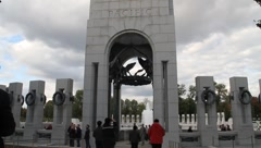 WWII Memorial Pacific Tower DC Stock Footage