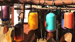 110114 bells wind mobile Stock Footage