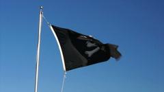 110114 skull flag Stock Footage
