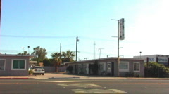 Old Desert Motel 1 Stock Footage