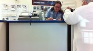 Stock Video Footage of Post Office Clerk