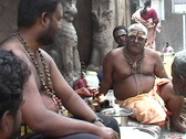 Small temple priests Stock Footage