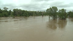 River Flooding After Tropical Storm - stock footage