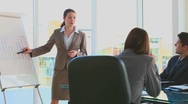Businesswoman making a presentation Stock Footage