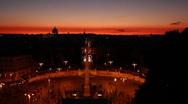 Sunset in rome Stock Footage