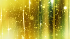 Stars background with flares, Yellow. HD 1080. Loop-able. Stock Footage