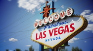 Famous Las Vegas sign time lapse Stock Footage