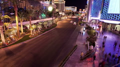 Las Vegas Strip time lapse 02 Stock Footage