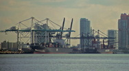 Stock Video Footage of Miami  harbor Timelapse