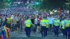 Sydney Gay & Lesbian Mardi Gras PT18 Stock Footage