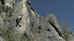 Rock Climbing sport - stock footage