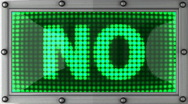 Stock Video Footage of NO announcement on the LED display