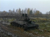 Stock Video Footage of T-34 tank taken out of the swamp