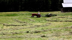 Haying a ranch in Montana Stock Footage