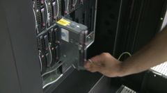 Stock Video Footage of server maintenance