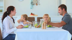 Family having a dinner together Stock Footage