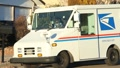 Mail Lady in Mail Truck Footage