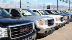 Auto Dealer New Trucks Stock Footage
