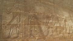 Luxor Temple Hieroglyphs Stock Footage
