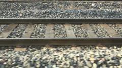 Railroad Tracks - stock footage