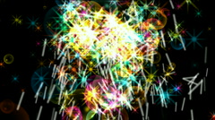 Stars particle firework background,fire energy,gunpowder bubble explosion. Stock Footage