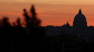 Stock Video Footage of Rome - St. Peter Sunset