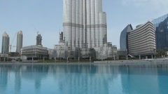 Burj Khalifa World's Tallest Building Stock Footage