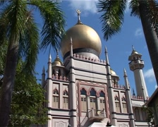 Sultan Mosque in Singapore_GFSD Stock Footage