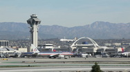 Stock Video Footage of Airline Landing 01 LAX HD