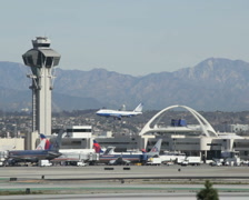 Airline Landing LAX 02 PAL Stock Footage