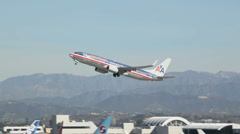 Passenger Jet Takes Off From LAX HD Stock Footage