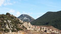 Pyrenees mountains village Stock Footage