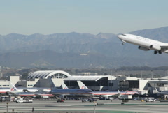 Airline Takeoff LAX 04 NTSC - stock footage