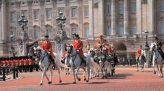 Buckingham Palace Procession Stock Footage