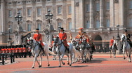 Stock Video Footage of Buckingham Palace Procession