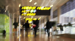 Barcelona airport rush passengers terminal 4k Stock Footage