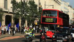 Oxford Street London - stock footage