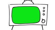 Green Screen Cartoon TV Zoom Stock Footage