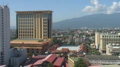 Thailand: Chiang Mai city overview Stock Footage