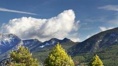 Clouds mountain range pyrenees landscape 4k Stock Footage