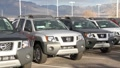 Popular New SUVs on Car Lot Footage