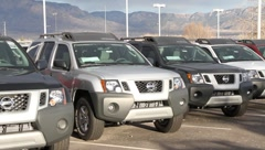 Popular New SUVs on Car Lot Stock Footage