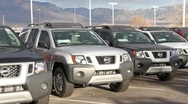 Stock Video Footage of Popular New SUVs on Car Lot