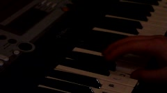 Playing Keyboard Piano Stock Footage