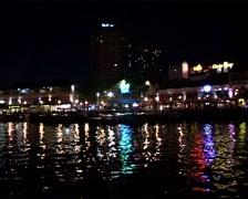 Clarke Quay at Night, Singapore_GFSD Stock Footage