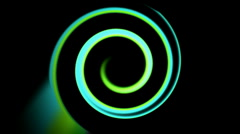 Abstract swirl ray light curve circle round laser tunnel space background. Stock Footage