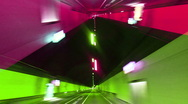 Timelpase driving through tunnel lights 4k Stock Footage