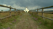 Stock Video Footage of Country church with fence